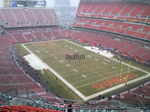 Seat view from section 542 at FirstEnergy Stadium, home of the Cleveland Browns