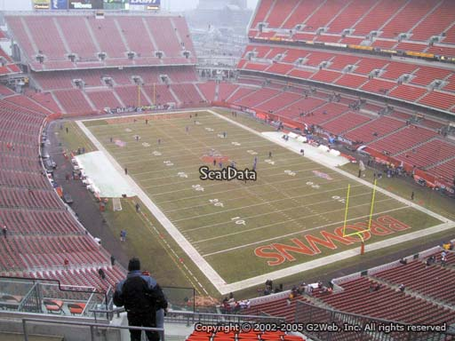 Seat view from section 543 at FirstEnergy Stadium, home of the Cleveland Browns