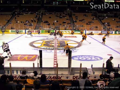 Seat view from section 1 at the TD Garden, home of the Boston Bruins