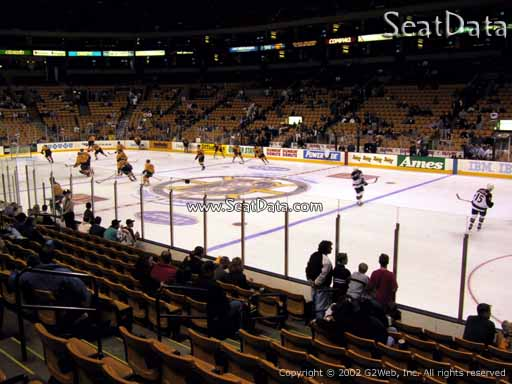 Seat view from section 10 at the TD Garden, home of the Boston Bruins