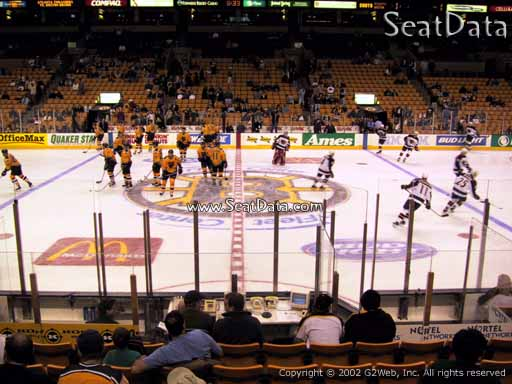 Seat view from section 12 at the TD Garden, home of the Boston Bruins