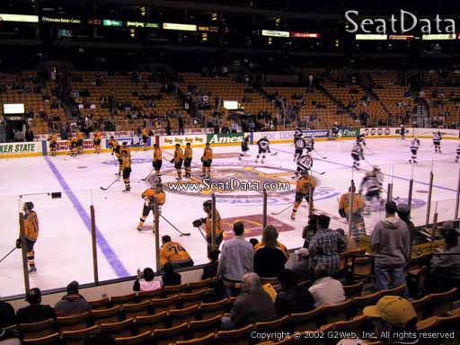 Seat view from section 13 at the TD Garden, home of the Boston Bruins