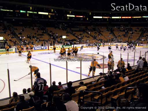Seat view from section 14 at the TD Garden, home of the Boston Bruins