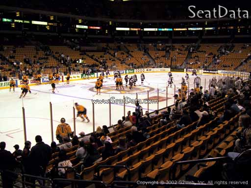 Seat view from section 15 at the TD Garden, home of the Boston Bruins