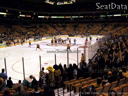 Seat view from section 16 at the TD Garden, home of the Boston Bruins