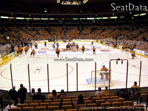 Seat view from section 18 at the TD Garden, home of the Boston Bruins