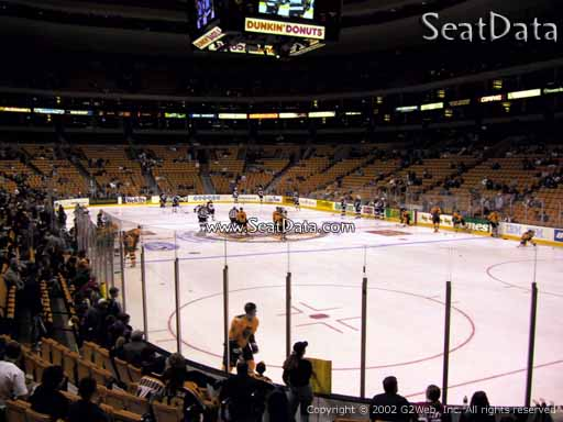 Seat view from section 19 at the TD Garden, home of the Boston Bruins