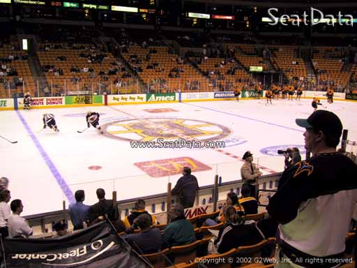 Seat view from section 2 at the TD Garden, home of the Boston Bruins