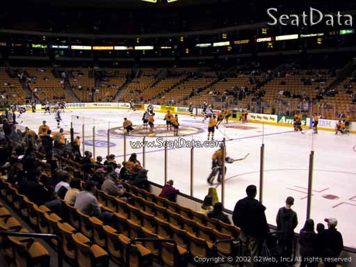 Seat view from section 20 at the TD Garden, home of the Boston Bruins