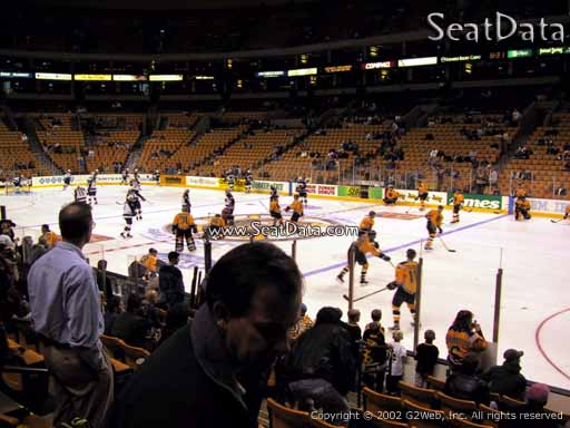 Seat view from section 21 at the TD Garden, home of the Boston Bruins