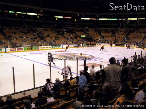 Seat view from section 3 at the TD Garden, home of the Boston Bruins