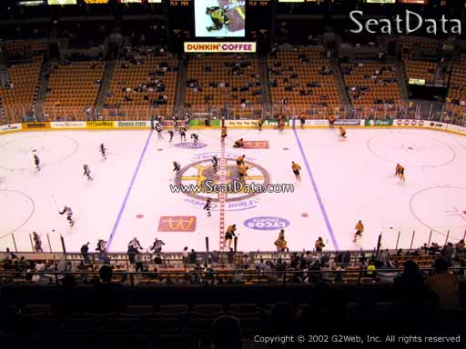 Seat view from section 301 at the TD Garden, home of the Boston Bruins