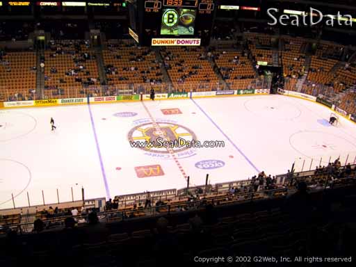 Seat view from section 302 at the TD Garden, home of the Boston Bruins