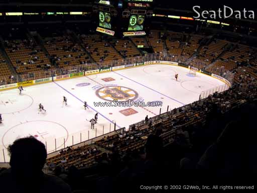 Seat view from section 304 at the TD Garden, home of the Boston Bruins