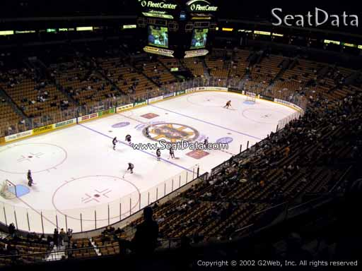 Seat view from section 305 at the TD Garden, home of the Boston Bruins