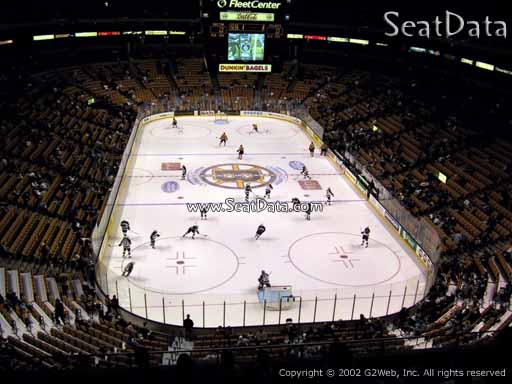 Seat view from section 309 at the TD Garden, home of the Boston Bruins