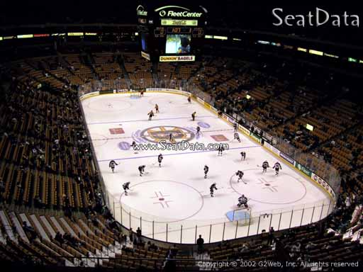 Seat view from section 310 at the TD Garden, home of the Boston Bruins