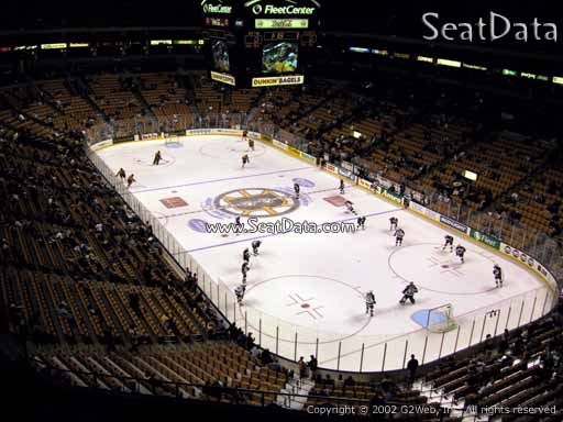 Seat view from section 311 at the TD Garden, home of the Boston Bruins