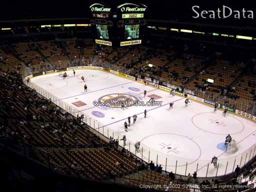 Seat view from section 312 at the TD Garden, home of the Boston Bruins