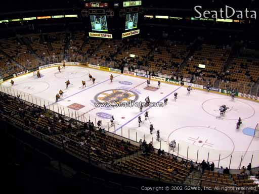 Seat view from section 313 at the TD Garden, home of the Boston Bruins