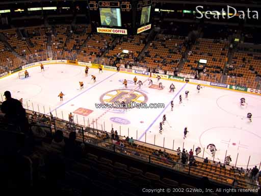 Seat view from section 314 at the TD Garden, home of the Boston Bruins