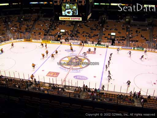 Seat view from section 315 at the TD Garden, home of the Boston Bruins