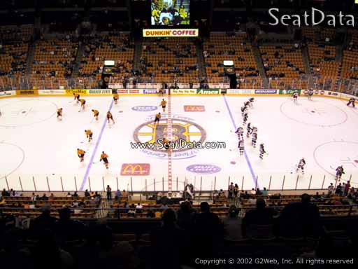 Seat view from section 316 at the TD Garden, home of the Boston Bruins