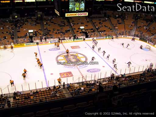 Seat view from section 317 at the TD Garden, home of the Boston Bruins
