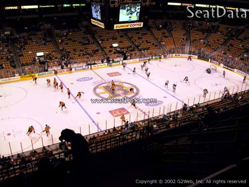 Seat view from section 318 at the TD Garden, home of the Boston Bruins