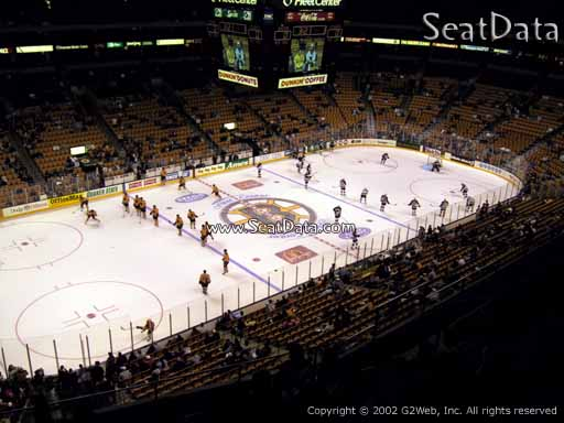 Seat view from section 319 at the TD Garden, home of the Boston Bruins
