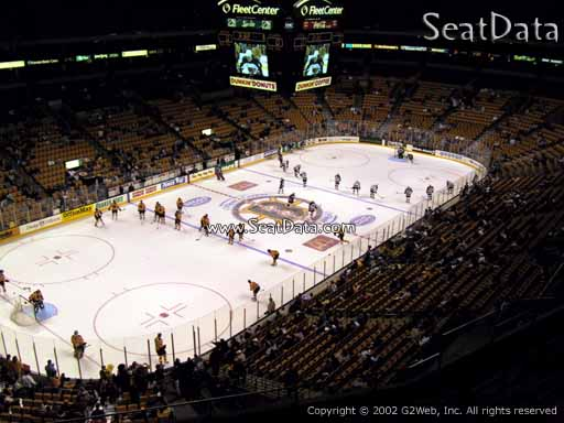 Seat view from section 320 at the TD Garden, home of the Boston Bruins