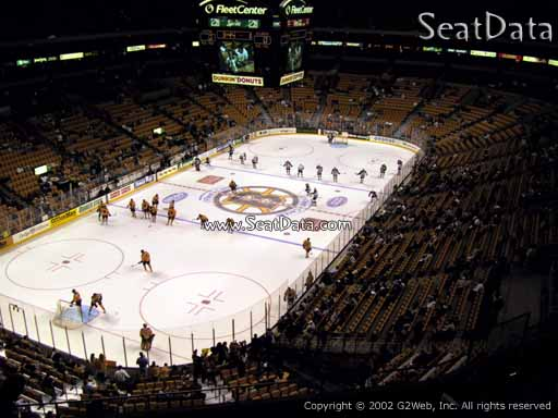 Seat view from section 321 at the TD Garden, home of the Boston Bruins