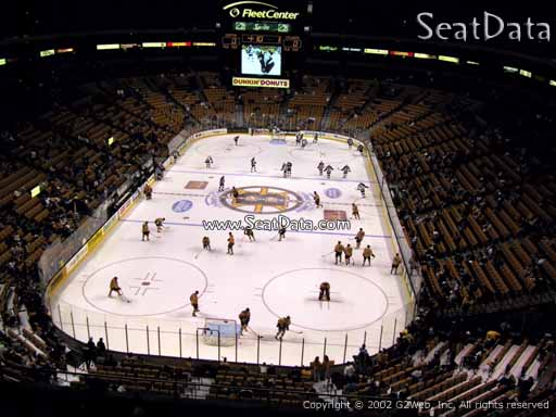Seat view from section 323 at the TD Garden, home of the Boston Bruins