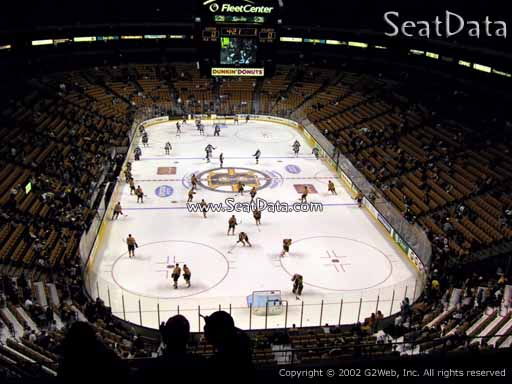 Seat view from section 324 at the TD Garden, home of the Boston Bruins