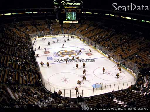 Seat view from section 325 at the TD Garden, home of the Boston Bruins