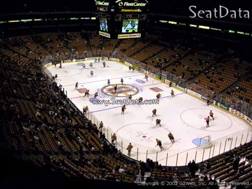 Seat view from section 326 at the TD Garden, home of the Boston Bruins