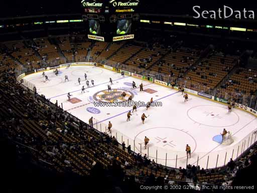 Seat view from section 327 at the TD Garden, home of the Boston Bruins
