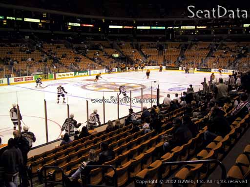 Seat view from section 4 at the TD Garden, home of the Boston Bruins
