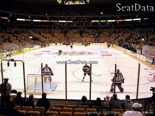 Seat view from section 6 at the TD Garden, home of the Boston Bruins