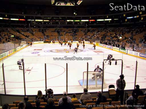 Seat view from section 7 at the TD Garden, home of the Boston Bruins