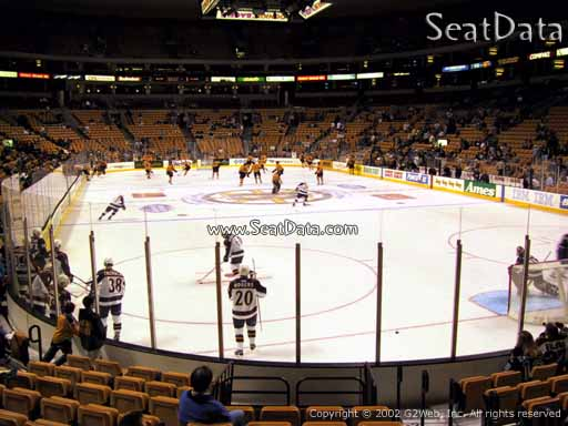 Seat view from section 8 at the TD Garden, home of the Boston Bruins