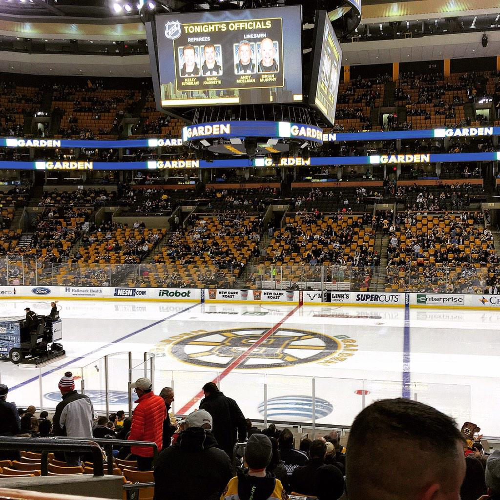 View from Club Section 109 at the TD Banknorth Garden