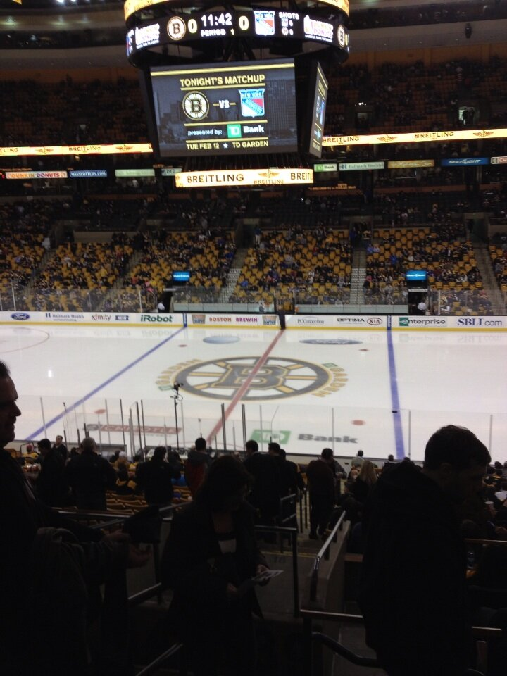 View from Club Section 139 at the TD Banknorth Garden