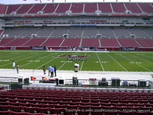 Seat view from section 111 at Raymond James Stadium, home of the Tampa Bay Buccaneers
