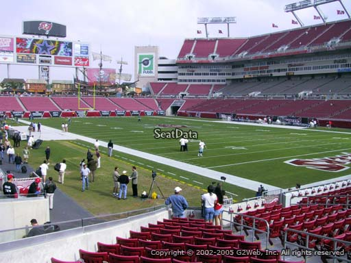 Seat view from section 119 at Raymond James Stadium, home of the Tampa Bay Buccaneers