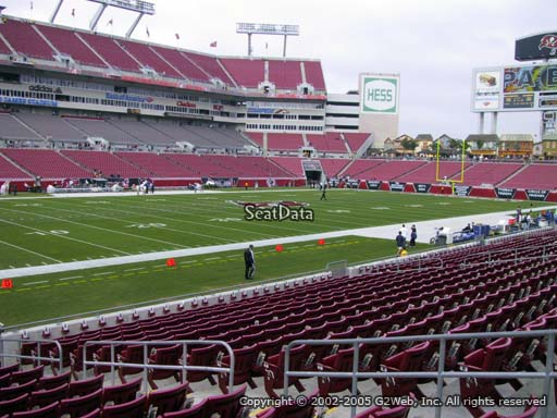 Seat view from section 131 at Raymond James Stadium, home of the Tampa Bay Buccaneers