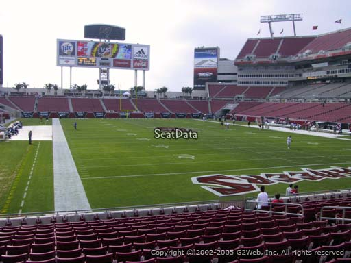 Seat view from section 146 at Raymond James Stadium, home of the Tampa Bay Buccaneers