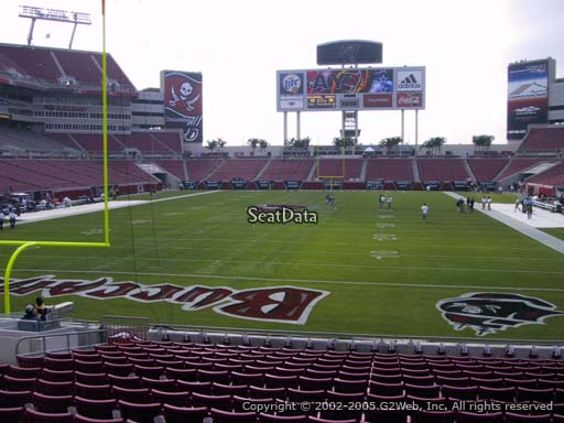 Seat view from section 149 at Raymond James Stadium, home of the Tampa Bay Buccaneers