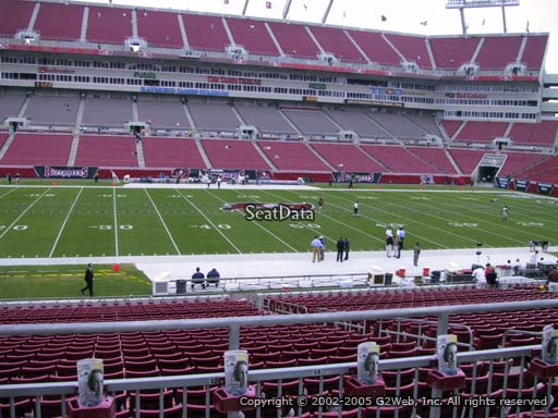 Seat view from section 209 at Raymond James Stadium, home of the Tampa Bay Buccaneers