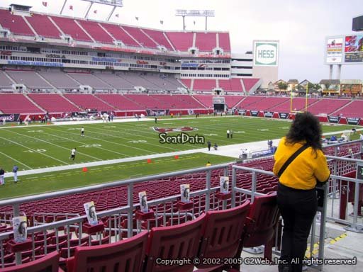 Seat view from section 231 at Raymond James Stadium, home of the Tampa Bay Buccaneers